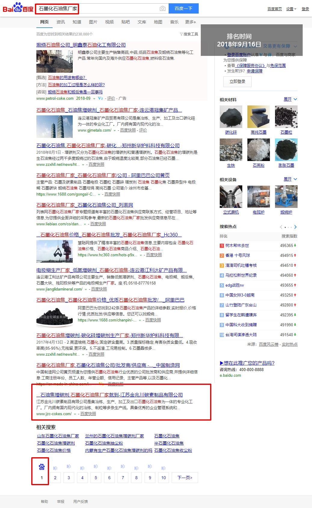 网站优化-石墨化石油焦厂家